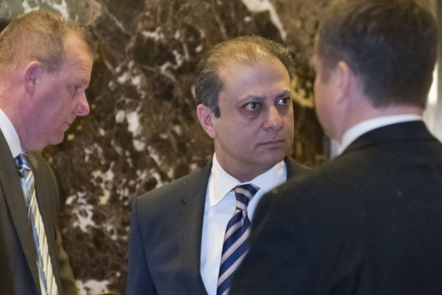 Preet Bharara, U.S. Attorney for the Southern District, arrives for a meeting with Donald Trump at Trump Tower in New York City on November 30, 2016. Bharara was among the U.S. attorneys fired on Friday. Pool Photo by Albin Lohr-Jones/UPI