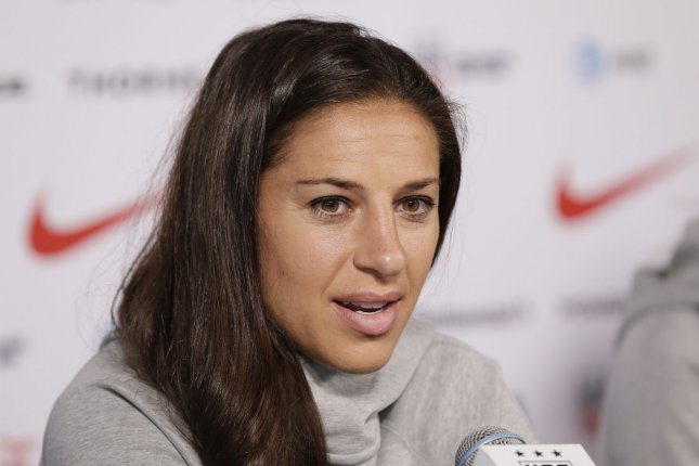 Carli Lloyd ranks No. 4 on the United States Women's National Team's all-time scoring list with 118 international goals. File Photo by John Angelillo/UPI