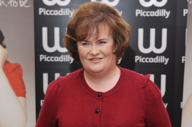 British singer Susan Boyle attends a signing of her autobiography The Woman I Was Born To Be at Waterstone's, Piccadilly in London on October 16, 2010. File Photo by Rune Hellestad/UPI
