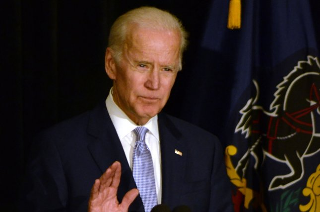 Former Vice President Joe Biden said he wouldn't rule out a 2020 presidential bid if the Democratic party doesn't produce another candidate capable of winning the election. Photo by Archie Carpenter/UPI