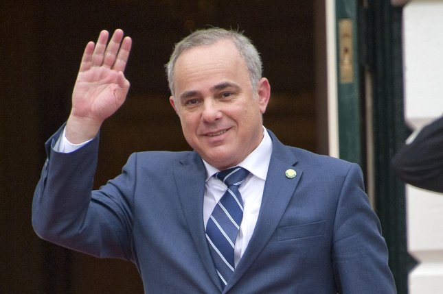 Yuval Steinitz, minister of national infrastructures, energy and water resources for Israel, arrives for a meeting at the White House in 2016. File Pool Photo by Ron Sachs/UPI