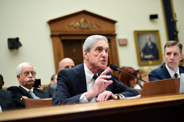 Former special counsel Robert Mueller testifies on his probe into Russian interference in the 2016 presidential election during a House Intelligence Committee hearing on Capitol Hill in Washington, D.C., on Wednesday, July 24, 2019. Photo by Kevin Dietsch/UPI