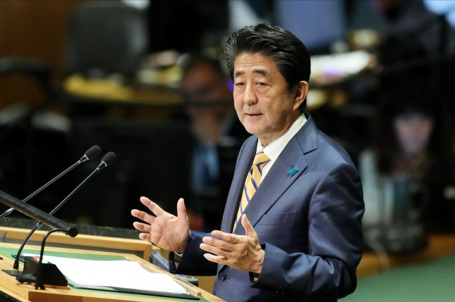 Japan Prime Minister Shinzo Abe described North Korea's test launch Friday as a threat. File Photo by Monika Graff/UPI