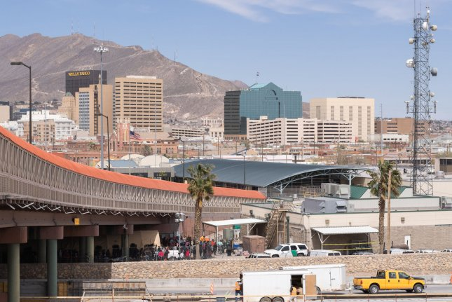 The Paso del Norte International Bridge in El Paso, Texas, connects to Ciudad Juarez, Mexico. File Photo by Justin Hamel/UPI