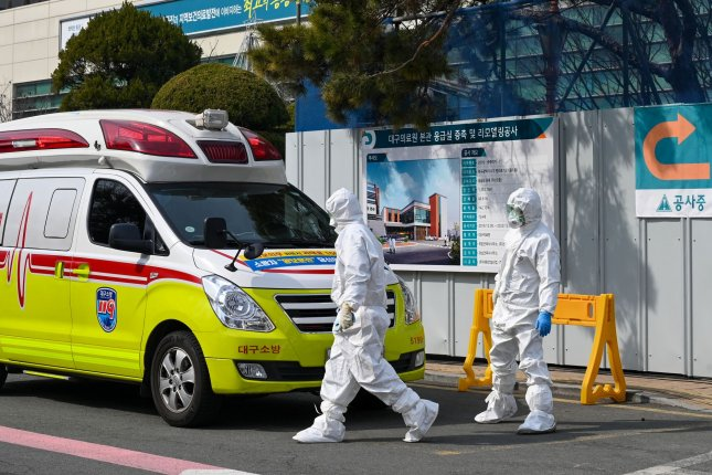 South Korea went to its highest alert level as COVID-19 cases spiked on Monday. Photo by Thomas Maresca/UPI