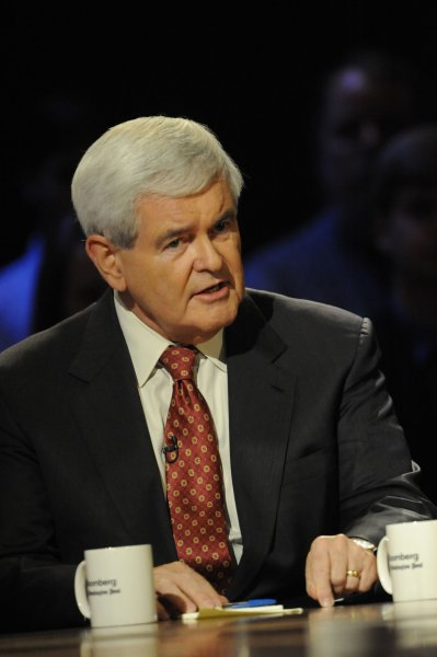 Former House Speaker Newt Gingrich, who has returned to the top tier of Republican presidential candidates according to the latest CBS News poll. UPI/Melina Mara/Pool