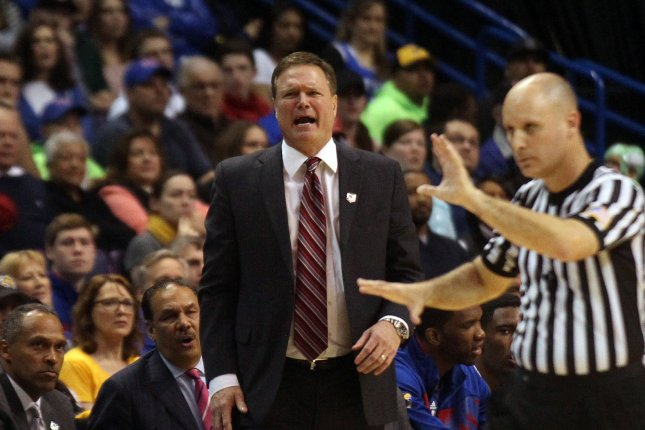 Kansas Jayhawks head basketball coach Bill Self will be happier this year with coveted players K.J. and Dedric Lawson announcing they will enroll at Kansas this year. File photo UPI/Bill Greenblatt
