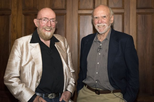 Kip Thorne and Barry Barish are pictured in this photograph released by Caltech on October 3, 2017. The 2017 Nobel Prize in Physics was awarded on October 3, 2017, to three of the founders of the Laser Interferometer Gravitational-wave Observatory (LIGO): Caltech's Kip S. Thorne and Barry C. Barish, and MIT's Rainer Weiss. On September 14, 2015, LIGO made the first-ever direct detection of gravitational waves, or ripples in the fabric of space and time, which had been predicted by Albert Einstein 100 years earlier. Photo by Caltech/UPI