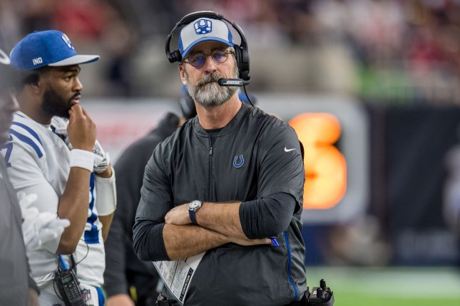 Frank Reich is entering his second season as the Indianapolis Colts' head coach. File Photo by Trask Smith/UPI
