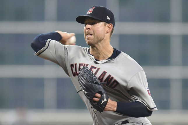 Former Cleveland Indians starting pitcher Corey Kluber spent the first nine seasons of his major league career with the Indians before being traded to the Texas Rangers last off-season. File Photo by Trask Smith/UPI