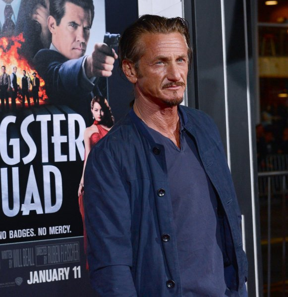 Sean Penn, a cast member in the motion picture crime drama Gangster Squad, attends the premiere of the film at Grauman's Chinese Theatre in the Hollywood section of Los Angeles on January 7, 2013. UPI/Jim Ruymen