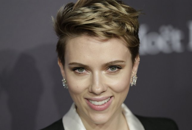 Scarlett Johansson at the amfAR New York gala on February 8. File Photo by John Angelillo/UPI