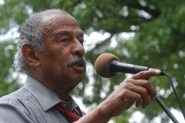 Rep. John Conyers, D-Mich., said he settled a sexual harassment complaint not because he was guilty but because he wanted to avoid expensive litigation. File Photo by Kevin Dietsch/UPI