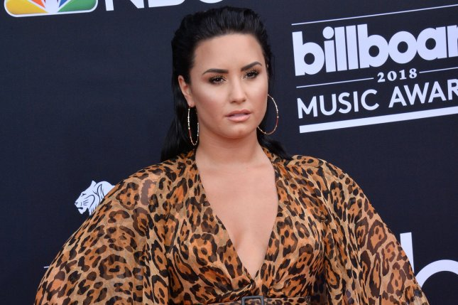 Demi Lovato posted a makeup-free selfie from the gym Tuesday. File Photo by Jim Ruymen/UPI
