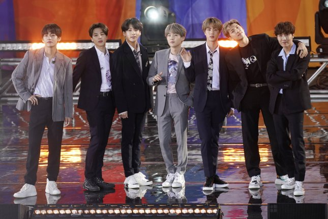 BTS performed on Good Morning America during their New York visit. Photo by John Angelillo/UPI