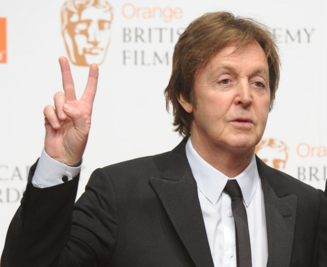 A handwritten letter by Paul McCartney is expected to fetch up to $14,000 at a Christie's auction. UPI/Rune Hellestad