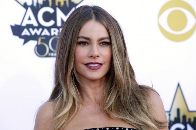 Actress Sofia Vergara arrives at the 50th annual Academy of Country Music Awards held at AT&T Stadium in Arlington, Texas on April 19, 2015. File Photo by John Angelillo/UPI