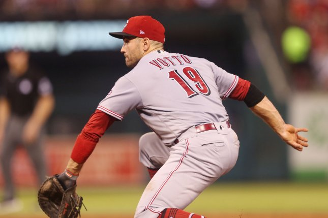 buy online c5ffa cd449 Watch: Reds star Joey Votto trades jersey for fan's shirt ...