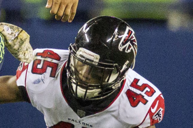 Atlanta Falcons linebacker Deion Jones had 53 tackles in six games last season. File Photo by Jim Bryant/UPI