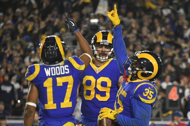 Los Angeles Rams tight end Tyler Higbee (89)has 60 catches for 672 yards and four touchdowns in 48 career games. File Photoby John McCoy/UPI