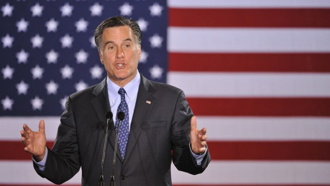 Republican Presidential hopeful Mitt Romney speaks to supporters at a rally on April 3, 2012 in Milwaukee, Wisconsin. Wisconsin, along with Maryland and Washington D.C. held their primary elections on Tuesday. UPI/Brian Kersey