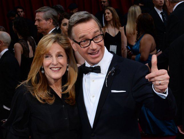 Director Paul Feig and his wife Delores arrive on the red carpet at the 86th Academy Awards at the Hollywood and Highland Center in the Hollywood section of Los Angeles on March 2, 2014. UPI/Jim Ruymen