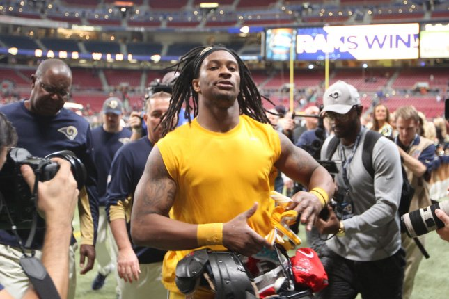 The fantasy football season is around the corner and Todd Gurley believes only 3 players should be considered with the first pick in the draft. Photo by Bill Greenblatt/UPI