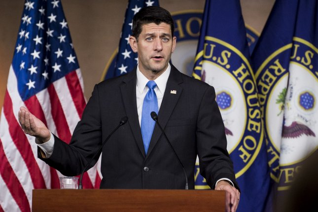 House Speaker Paul Ryan, R-Wis., speaks during a press conference on Capitol Hill. Ryan announced Friday he definitely will run for speaker in the new Congress. Photo by Pete Marovich/UPI