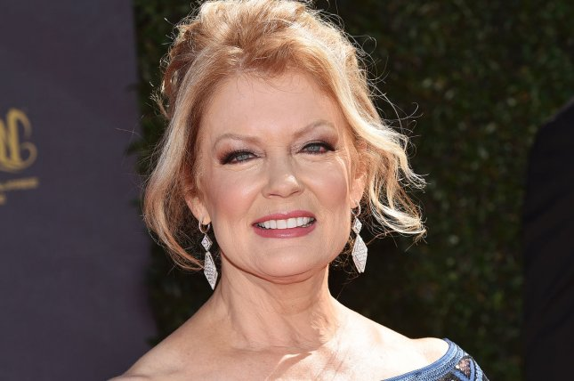 Mary Hart arrives at the 44th Annual Daytime Emmy Awards at the Pasadena Civic Auditorium on Sunday. Photo by Christine Chew/UPI