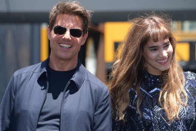 Tom Cruise and Sofia Boutella attend The Mummy photo-op in Los Angeles on May 20. The Mummy is the first film in Universal's newly titled Dark Universe series that will feature other classic movie monsters with Cruise, Johnny Depp, Russell Crowe and Javier Bardem set to star. Photo by Jim Ruymen/UPI