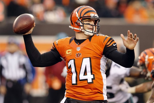 Andy Dalton and the Cincinnati Bengals have their eyes on an improved season. Photo by John Sommers II/UPI