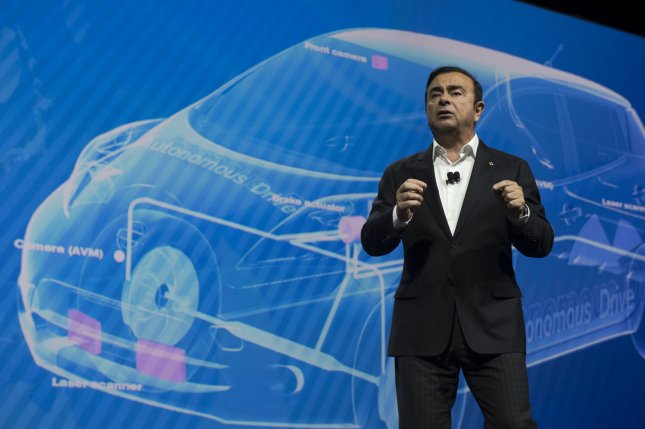 Carlos Ghosn, former CEO of Nissan Motor Corp., used lax security for private jets to escape bail in Japan, the Wall Street Journal reported. File photo by Molly Riley/UPI