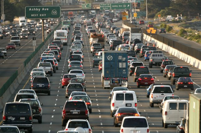 Since California put diesel emissions rules in place, diesel exhaust-related deaths have been cut in half, researchers say. File Photo by Aaron Kehoe/UPI