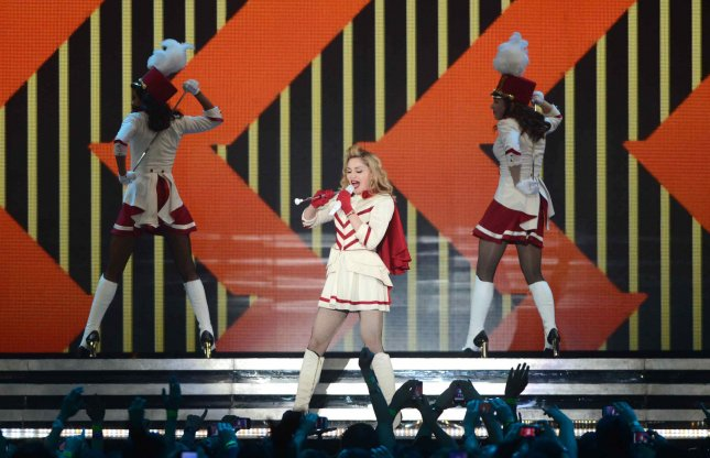 Madonna performs live at The NIA in Birmingham on July 19, 2012. UPI/Paul Treadway