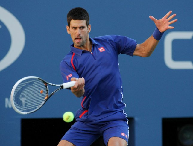Novak Djokovic, shown in the U.S. Open finals when he lost to Andy Murray, beat Murray in three sets Wednesday in Group A play of the Barclays ATP World Tour Finals in London. UPI Photo/Monika Graff