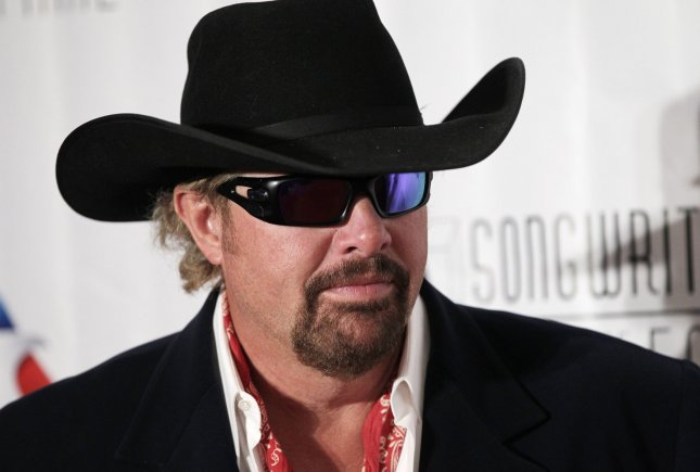 Toby Keith arrives on the red carpet at the 46th annual Songwriters Hall of Fame 2015 induction and awards gala on June 18, 2015. File Photo by John Angelillo/UPI