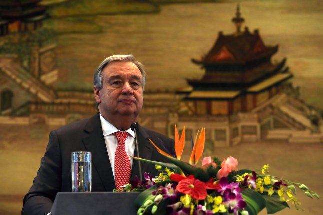 U.N. Secretary-General Antonio Guterres is urging North Korea to join the Chemical Weapons Convention. North Korea has denied involvement in the assassination of Kim Jong Nam, an attack that involved the use of VX, a deadly nerve agent. File Photo by Stephen Shaver/UPI