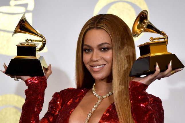 Beyoncé attends the Grammy Awards on February 12. The singer shared a picture Sunday from mom Tina Knowles' Wearable Art gala. File Photo by Christine Chew/UPI