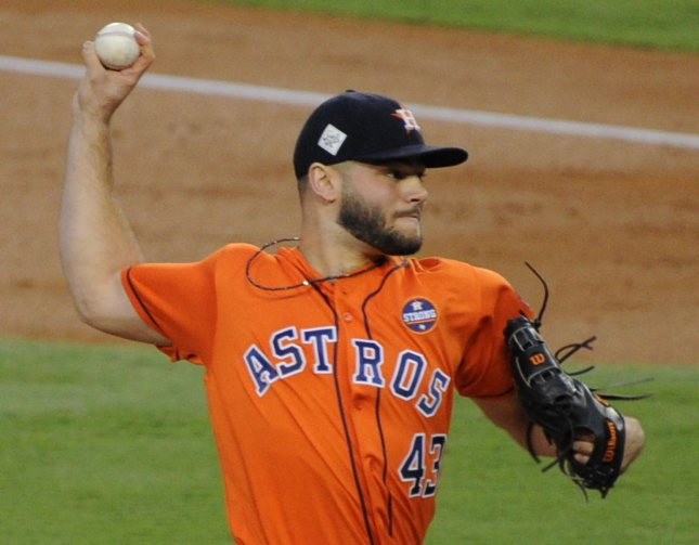 Lance McCullers, Jr. and the Houston Astros take on the Kansas City Royals on Sunday. Photo by Lori Shepler/UPI