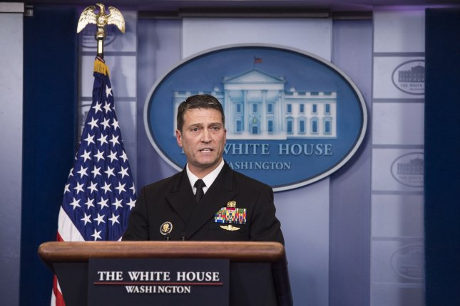 Former White House doctor Ronny Jackson will not examine President Donald Trump for his annual physical this year, but he is back in the White House as part of its medical staff. Photo by Kevin Dietsch/UPI