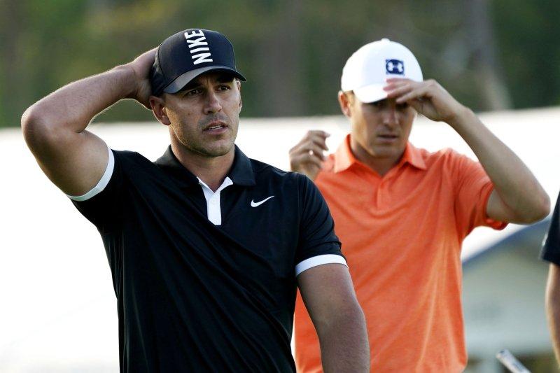 Brooks Koepka (L) is the defending PGA champion. Photo by John Angelillo/UPI