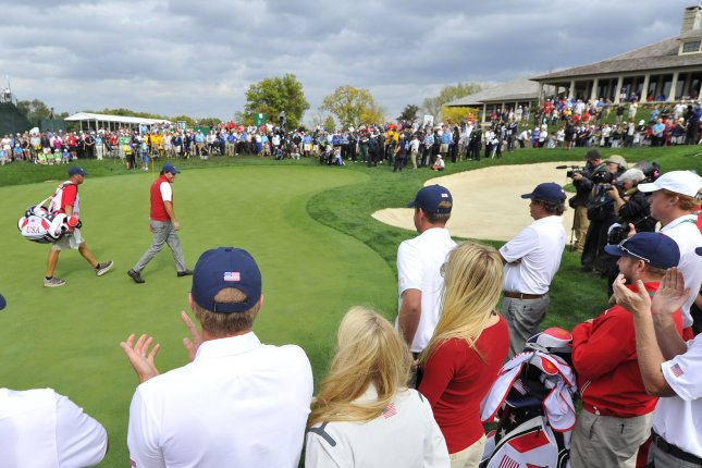 The PGA Tour said it will not allow fans at tournaments until the time is right after it canceled plans for fans at next week's Memorial Tournament in Dublin, Ohio. File Photo by Brian Kersey/UPI