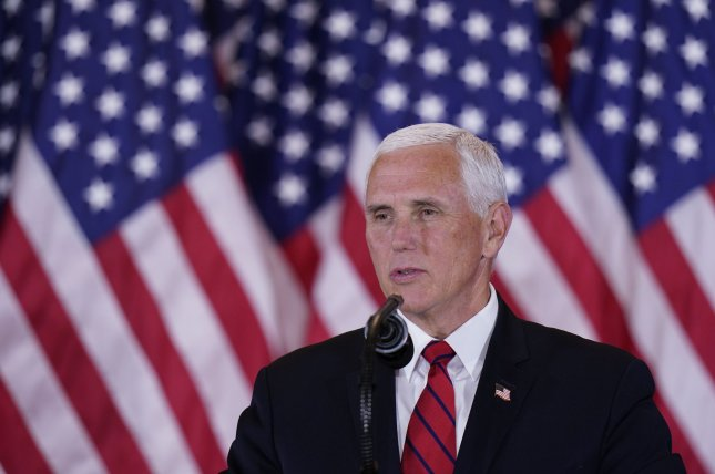 Vice President Mike Pence on Thursday requested for a federal judge to dismiss a lawsuit brought by Republican lawmakers seeking to expand his power to overturn the electoral votes certified by states. FilePhoto by Chris Kleponis/UPI