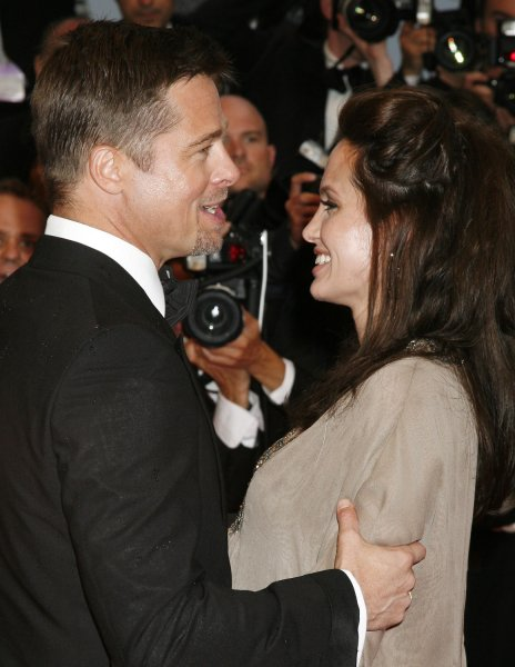 Actor Brad Pitt and wife actress Angelina Jolie during the 61st Annual Cannes Film Festival in Cannes, France on May 20, 2008. (UPI Photo/David Silpa)