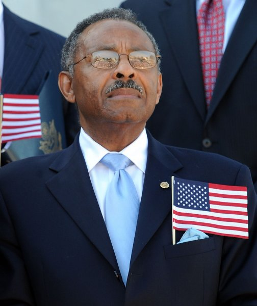 Sen. Roland Burris, D-IL, participates in a 9-11 remembrance ceremony on the East Front steps of the U.S. Capitol in Washington on September 15, 2010. UPI/Roger L. Wollenberg
