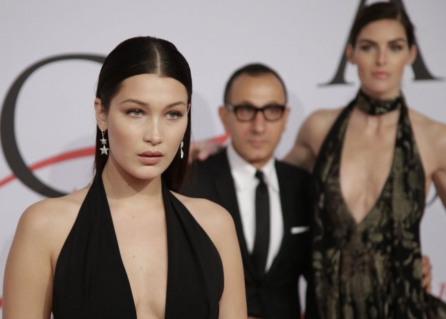 Bella Hadid arrives on the red carpet at the 2015 CFDA Fashion Awards at Alice Tully Hall at Lincoln Center in New York City on June 1, 2015. File Photo by John Angelillo/UPI