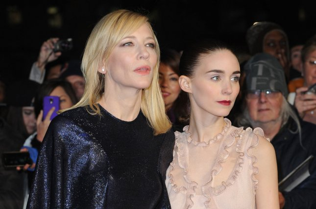 Australian actress Cate Blanchett and American actress Rooney Mara attend a screening for Carol during the 59th BFI London Film Festival on October 14, 2015. File Photo by Paul Treadway/ UPI