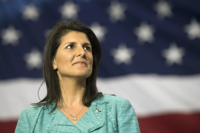South Carolina Gov. Nikki Haley, the daughter of Indian immigrants who is serving her second term as governor, has accepted President-elect Donald Trump's offer to become his administration's ambassador to the United Nations. She said she did so out of a sense of duty. File Photo by Kevin Dietsch/UPI
