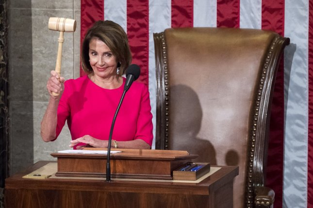 Democratic U.S. House Speaker Nancy Pelosi was ranked as the third-most powerful woman on the Forbes list, unveiled Thursday. File Photo by Kevin Dietsch/UPI