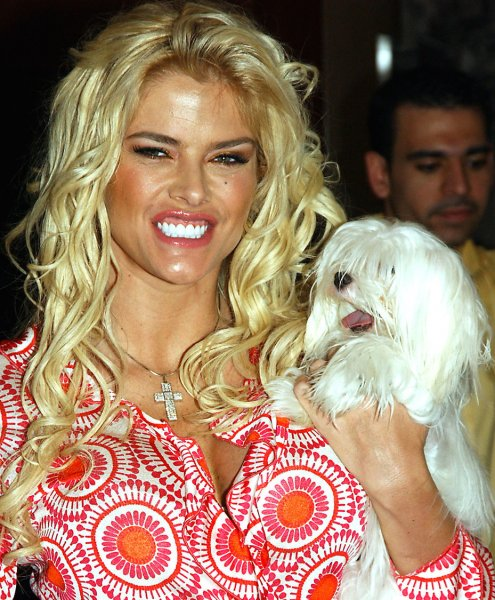 Actress Anna Nicole Smith, pictured in an April 7, 2005 file photo at New York's Grand Central Station, died after collapsing in a hotel in Hollywood, Flordia on February 8, 2007. (UPI Photo/Ezio Petersen/FILE)